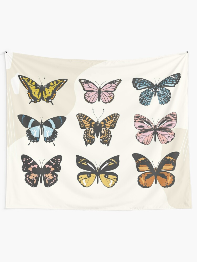 Alternate view of Butterfly Sticker Pack Wall Tapestry
