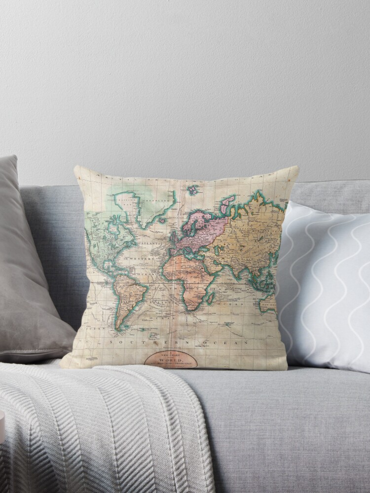 Vintage World Map 1801 by naturemagick