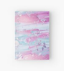 Shine Shimmer Pastel Pink and Blue Modern Hardcover Journal