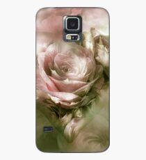 Herz einer Rose - antikes Rosa Hülle & Klebefolie für Samsung Galaxy