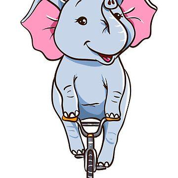 Elefant Reiten Fahrrad von frittata