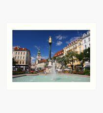 Fountain at the Iron Gate, Graz Art Print