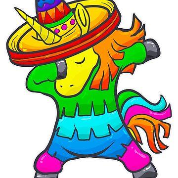 Tupfendes Einhorn Pinata Cinco de Mayo von frittata