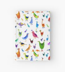 Funny Birds with shoes Hardcover Journal
