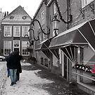 Selective colouring - three in Holland.  by MrJoop