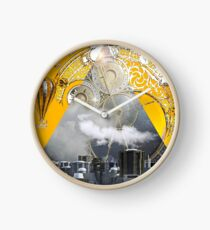 Abstract Collage City Clocks Clock