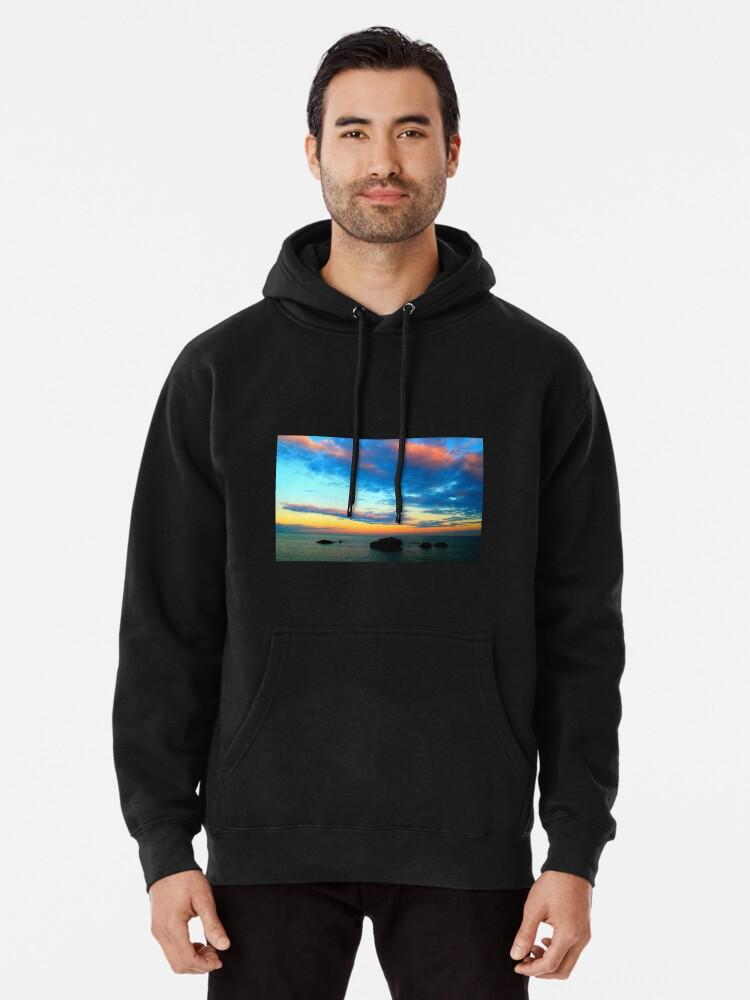 Seaside Rocks Sunset,Men//Womens Warm Outerwear Jackets and Hoodies S