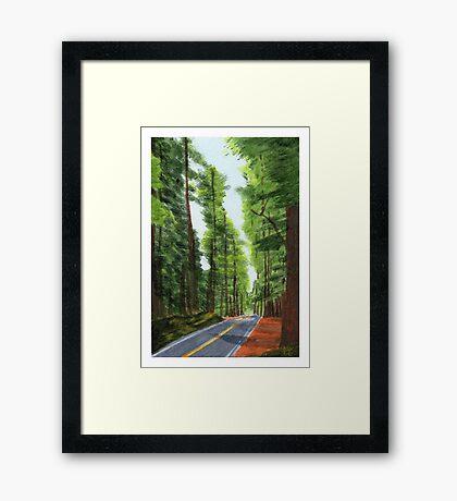 On The Avenue Framed Print