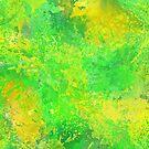 Yellow and Green Splattered Paint Texture Design by Shan Shankaran