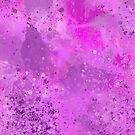 Violet Pink and Purple Splattered Texture Design Pattern by Shan Shankaran