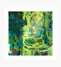 Meditating Buddha contemporary spiritual abstract Art Print