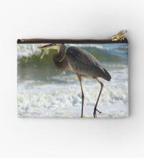 Pensacola Beach Great Blue Heron II Zipper Pouch