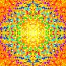 Rainbow Multicolored Sparkles Pattern Design by Shan Shankaran