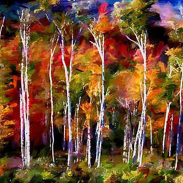 Autumn in the Birches by waynedking