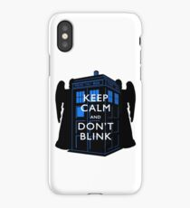 Keep Calm & Don't Blink iPhone Case/Skin