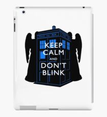 Keep Calm & Don't Blink iPad Case/Skin