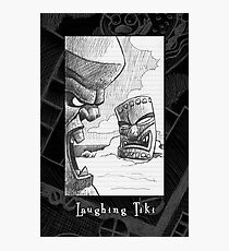 Laughing Tiki from Doodle Book Photographic Print