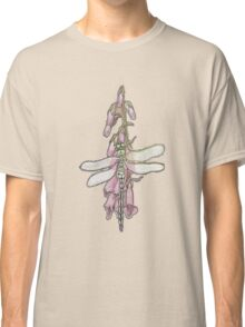 Dragonfly On Foxglove Classic T-Shirt