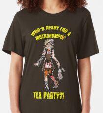 Mothahumpin' TEA PARTY! Slim Fit T-Shirt