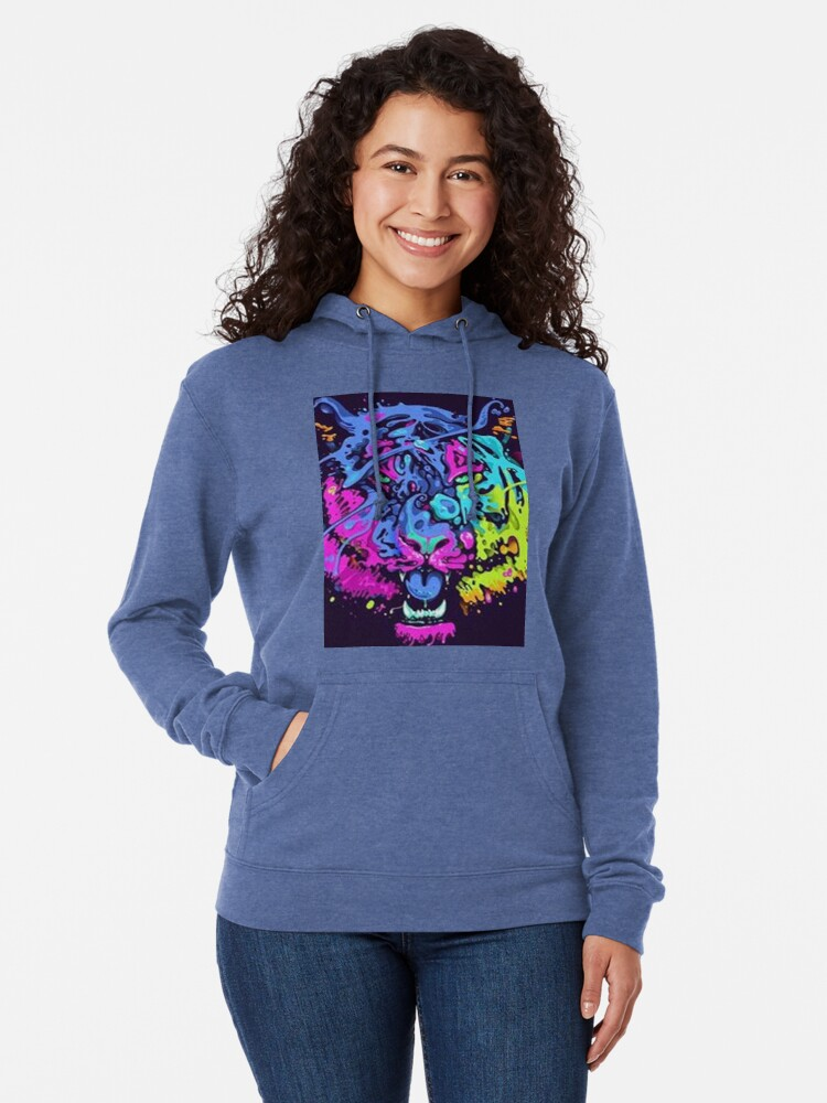 Alternative Ansicht von Leo Abstract Collour Leichter Hoodie