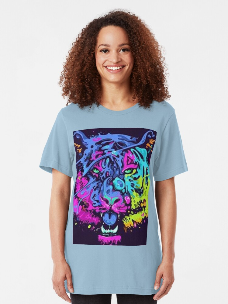 Alternative Ansicht von Leo Abstract Collour Slim Fit T-Shirt