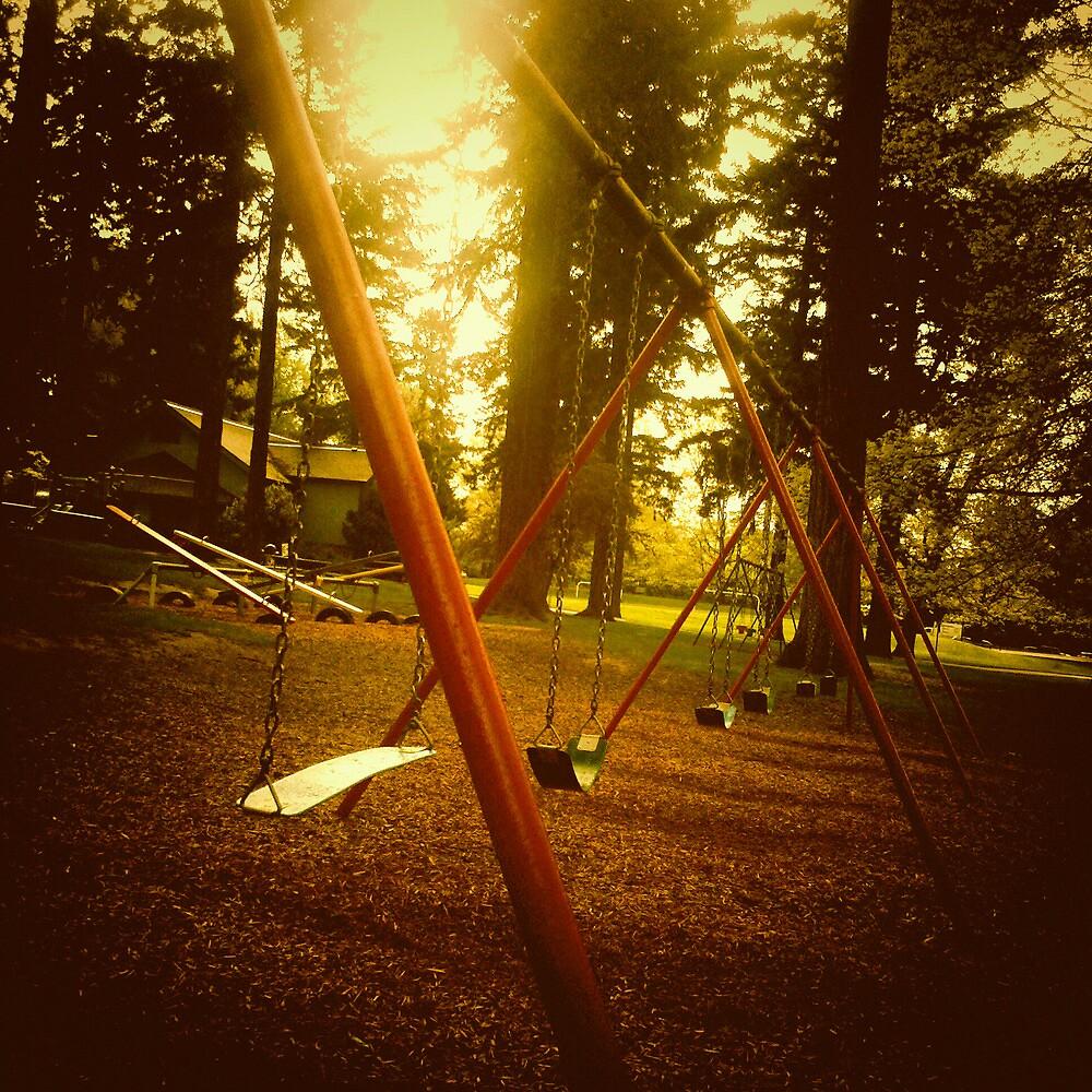 Swings - Laurelhurst Park Portland Oregon by KeriFriedman