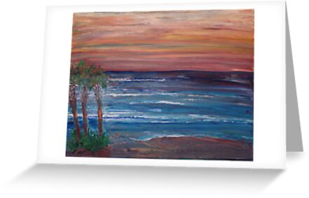 Sunset at Daytona Beach by eoconnor