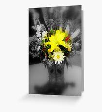 sunshine through the grey Greeting Card