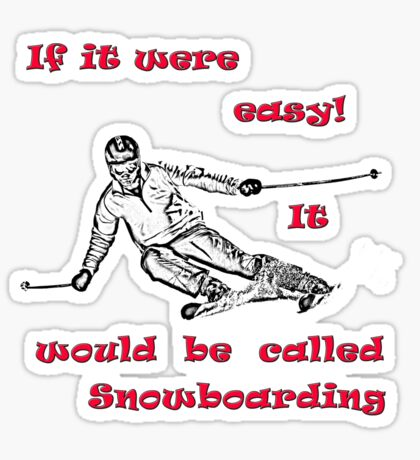 Skiing T shirt Sticker