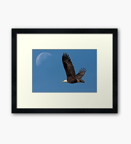 Ticket to the Moon Framed Print