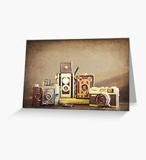 Vintage Cameras Greeting Card