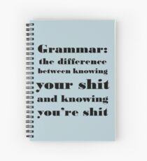Grammatik: Der Unterschied zwischen Ihnen und Ihnen Spiralblock