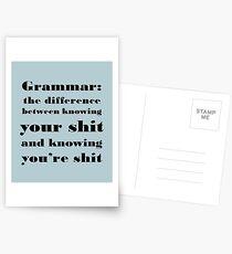 Postales Gramática: la diferencia entre tú y tú