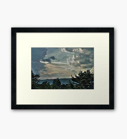 Multi-layered Sky Framed Print