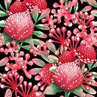 «Acuarela flores rojas y hojas» de Ekaterina Glazkova