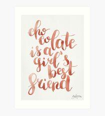 Chocolate is a girl's best friend Art Print