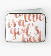 Chocolate is a girl's best friend Laptop Sleeve