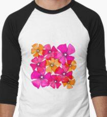 Frühling Blumen gelb pink Baseballshirt für Männer