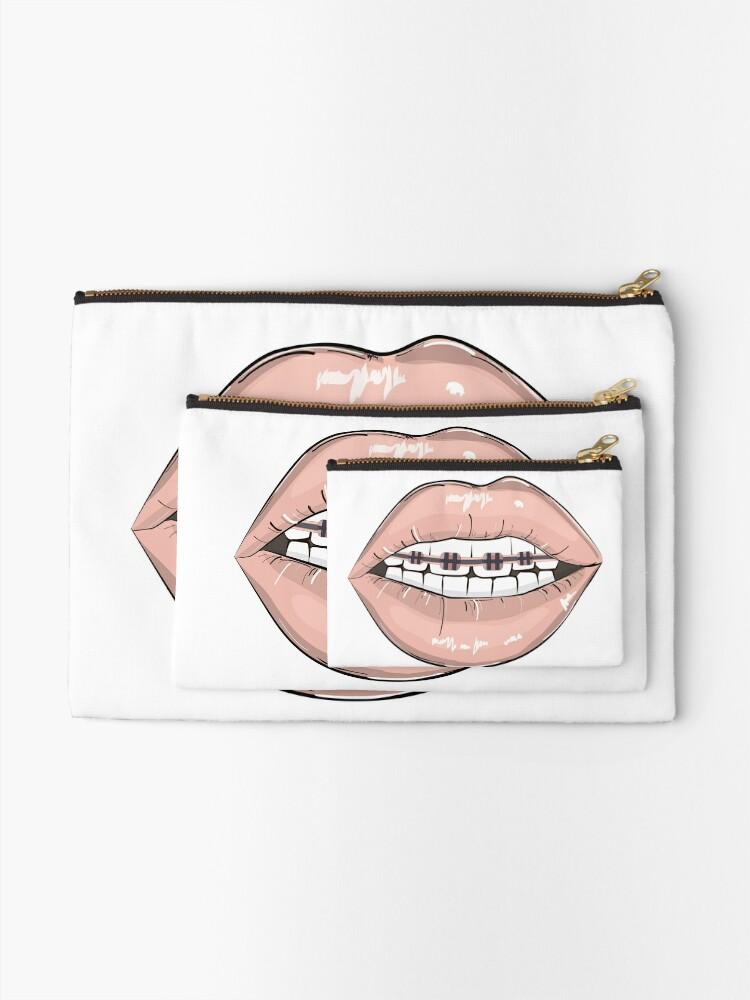 Alternate view of Lips braces Zipper Pouch
