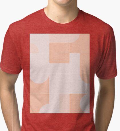 Retro Tiles 05 #redbubble #pattern Tri-blend T-Shirt