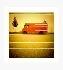 Red Truck - Portland, Oregon Art Print