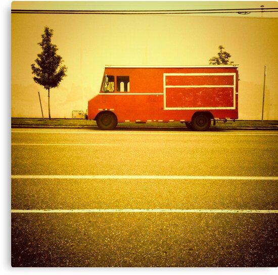 Red Truck - Portland, Oregon by KeriFriedman