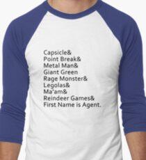 Nicknames Men's Baseball ¾ T-Shirt