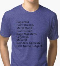 Nicknames Tri-blend T-Shirt