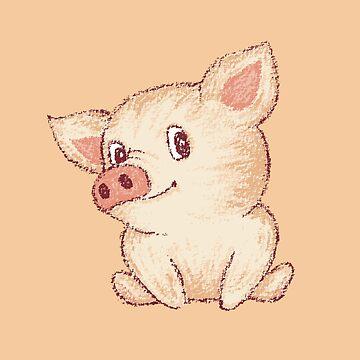 Cerdo lindo sentado de sanogawa