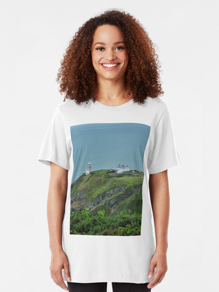 Alternate view of Howth Lighthouse - Ireland Slim Fit T-Shirt