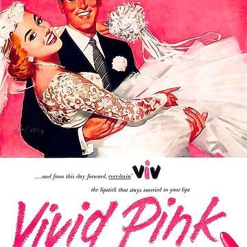 Lápiz labial rosa vivo / anuncio de época de NoraMohammed