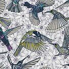 Hum Sonne Honig Vögel Basalt von Sharon Turner
