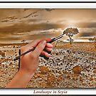 Landscape in Sepia by Kym Howard