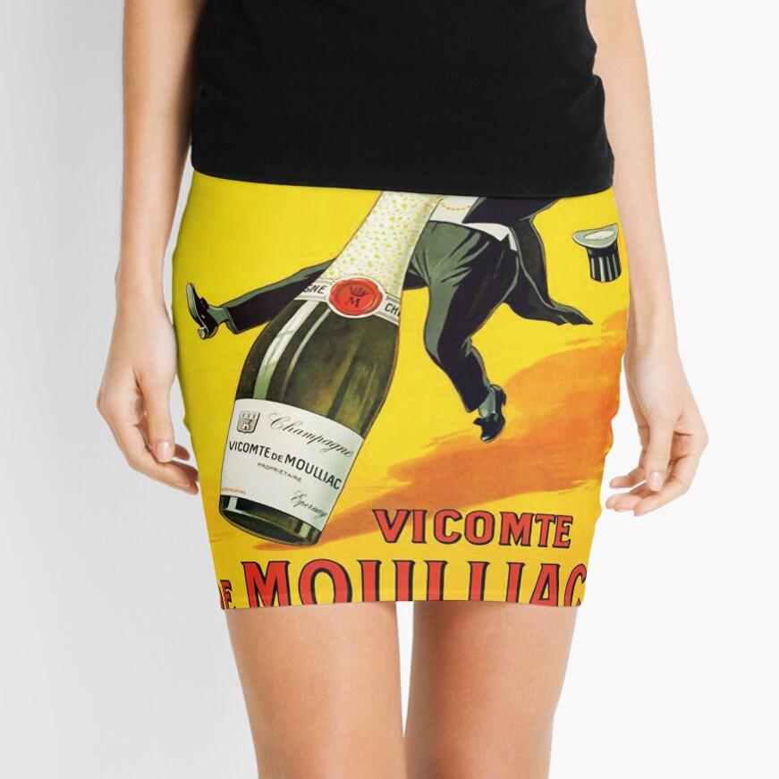 Cartel del vino del vintage Minifalda